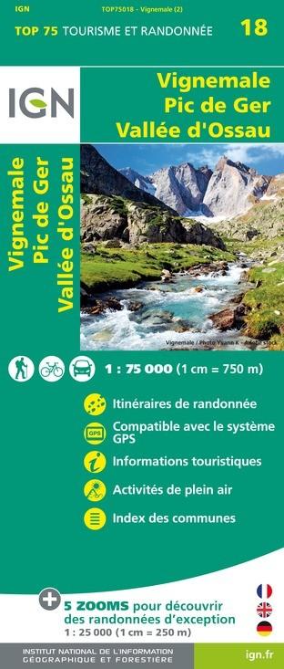 IGN Vignemale.Pic De Ger.Vallée D'Ossau - Carte topographique