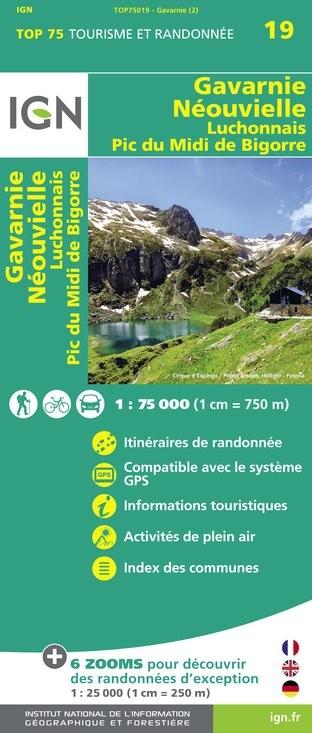 IGN Gavarnie / Néouvielle / Luchonnais / Pic-Du-Midi-De-Bigorre - Carte topographique