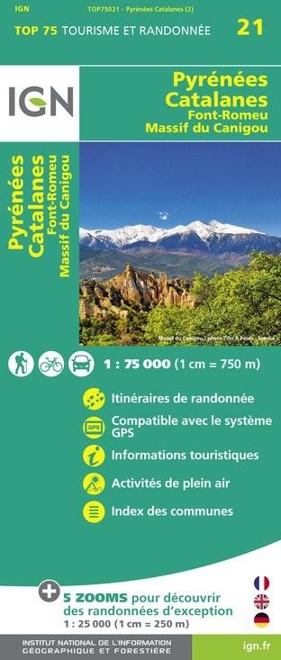 IGN Pyrénées-Catalanes / Font-Romeu / Massif-Du Canigou - Carte topographique