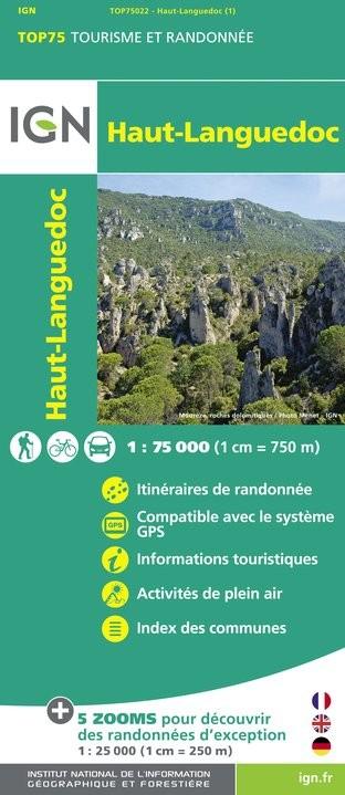 IGN Haut Languedoc - Carte topographique