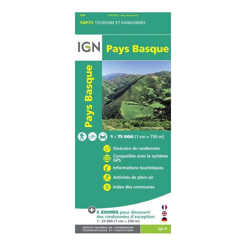 IGN Pays Basque - Carte topographique