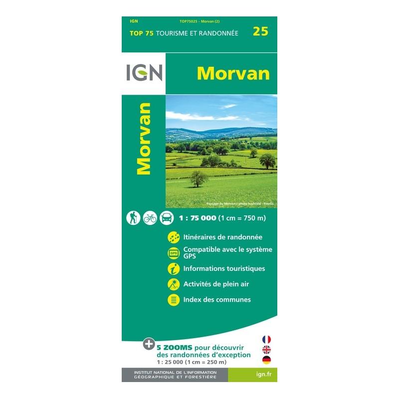 IGN Morvan - Carte topographique
