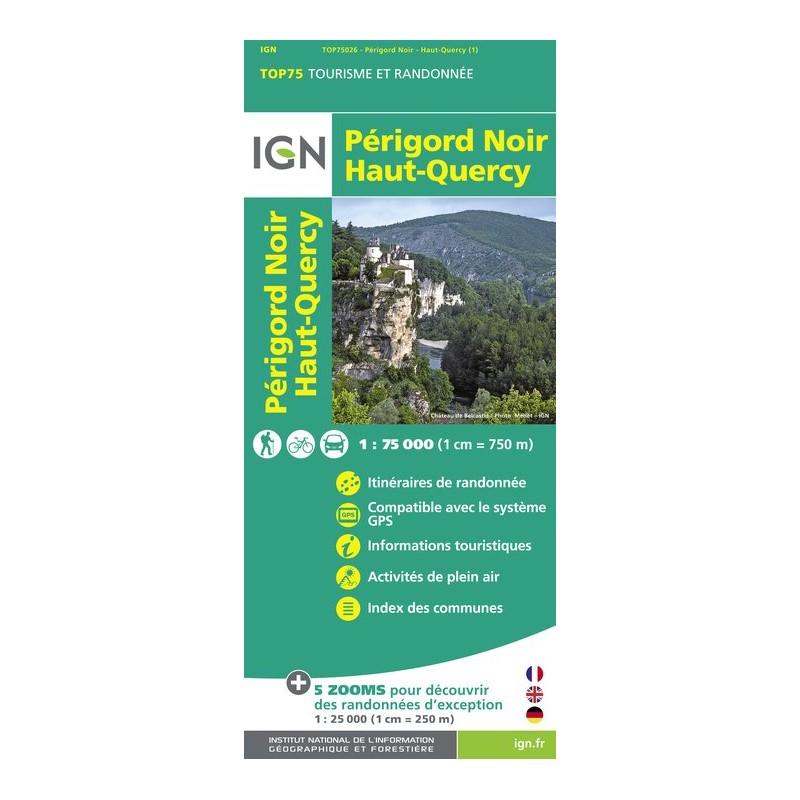 IGN Périgord Noir / Haut Quercy - Carte topographique