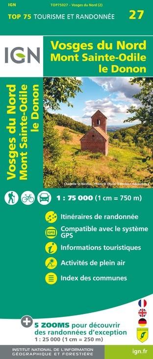 IGN Vosges Du Nord - Carte topographique