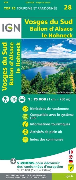 IGN Vosges Du Sud - Carte topographique