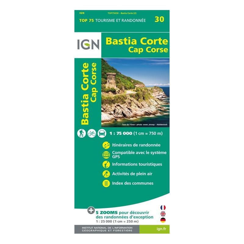 IGN Bastia / Corte / Cap Corse - Carte topographique