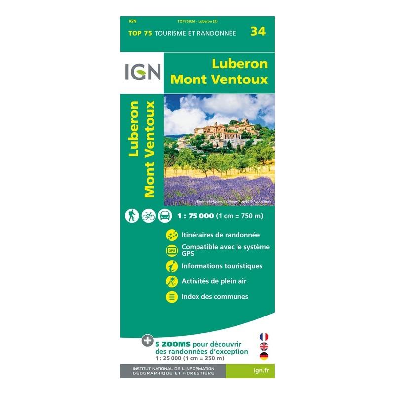IGN Lubéron.Mont-Ventoux - Carte topographique