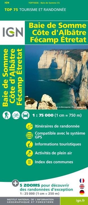 IGN Baie De Somme / Côte D'Albâtre / Fécamp / Etretat - Carte topographique