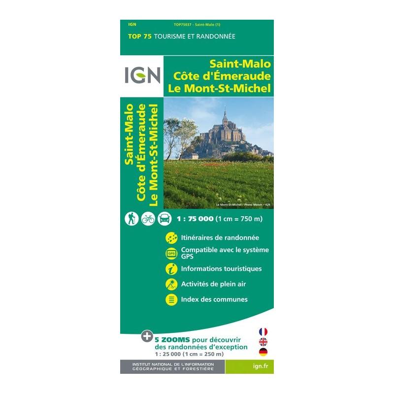 IGN St Malo / Côte D'Emeraude / Mont St Michel - Carte topographique