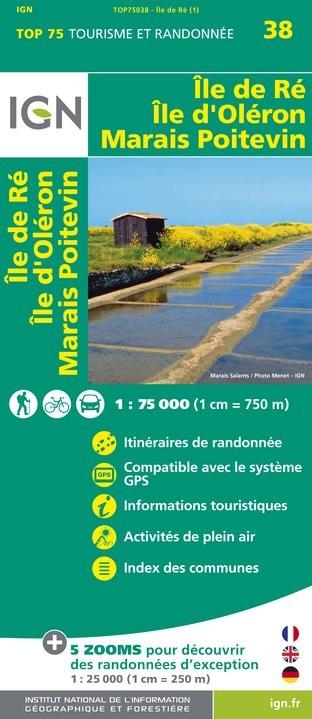 IGN Île De Ré / Île D'Oléron / Marais Poitevin - Carte topographique