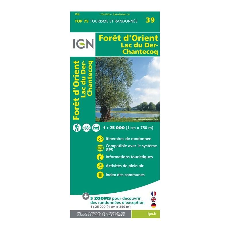 IGN Foret D'Orient / Lac Du Der - Carte topographique