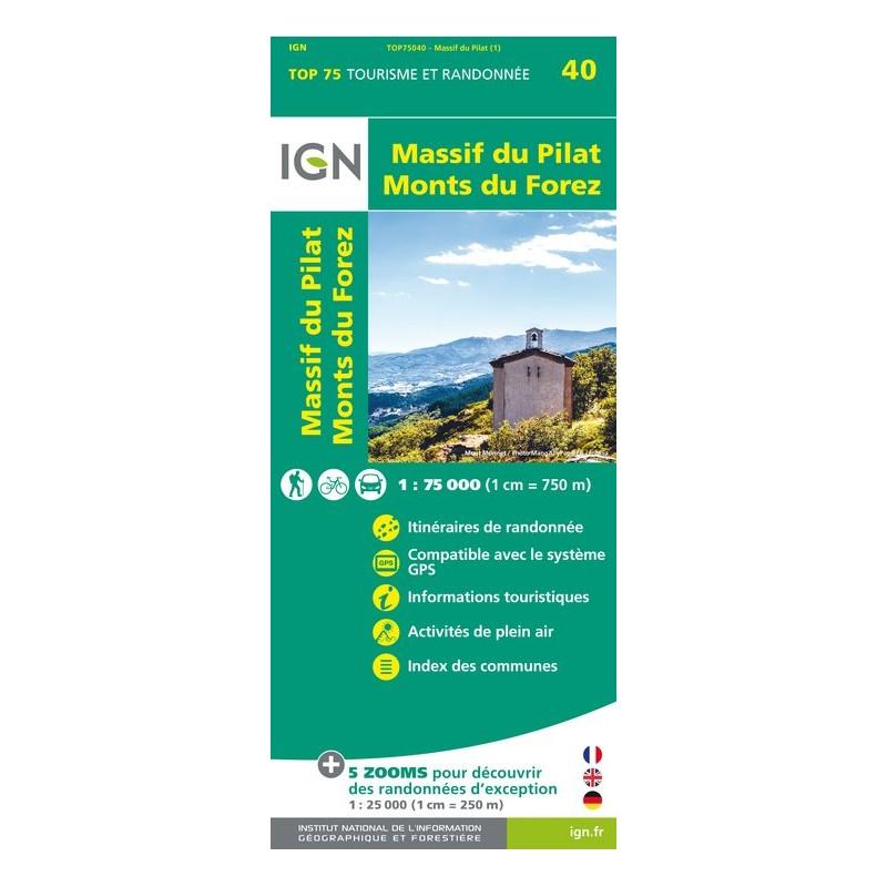 IGN Massif Du Pilat / Monts Du Forez - Carte topographique