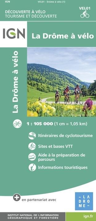 IGN Drôme À Vélo - Carte topographique