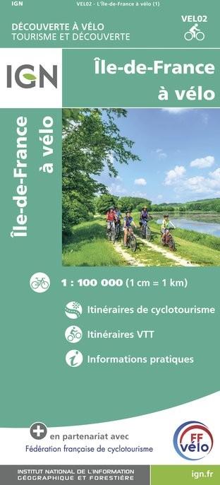 IGN L'Ile De France À Vélo - Carte topographique