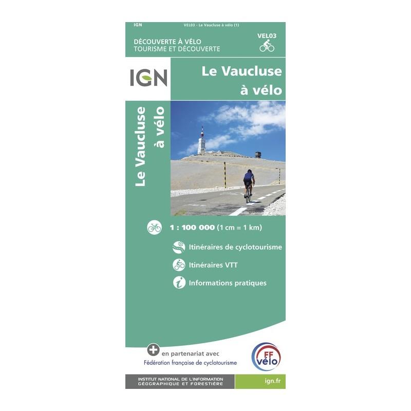 IGN Vaucluse À Vélo - Carte topographique