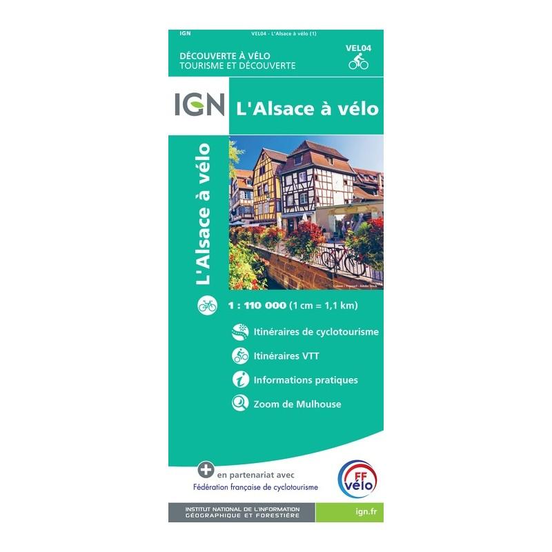 IGN Alsace À Vélo - Carte topographique