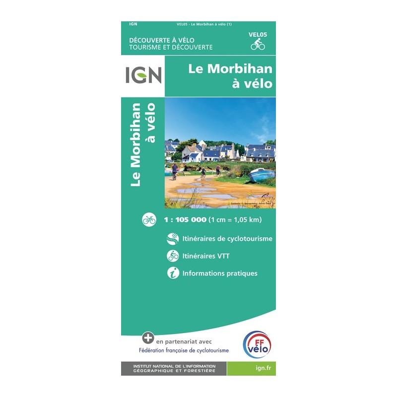 IGN Le Morbihan À Vélo - Carte topographique