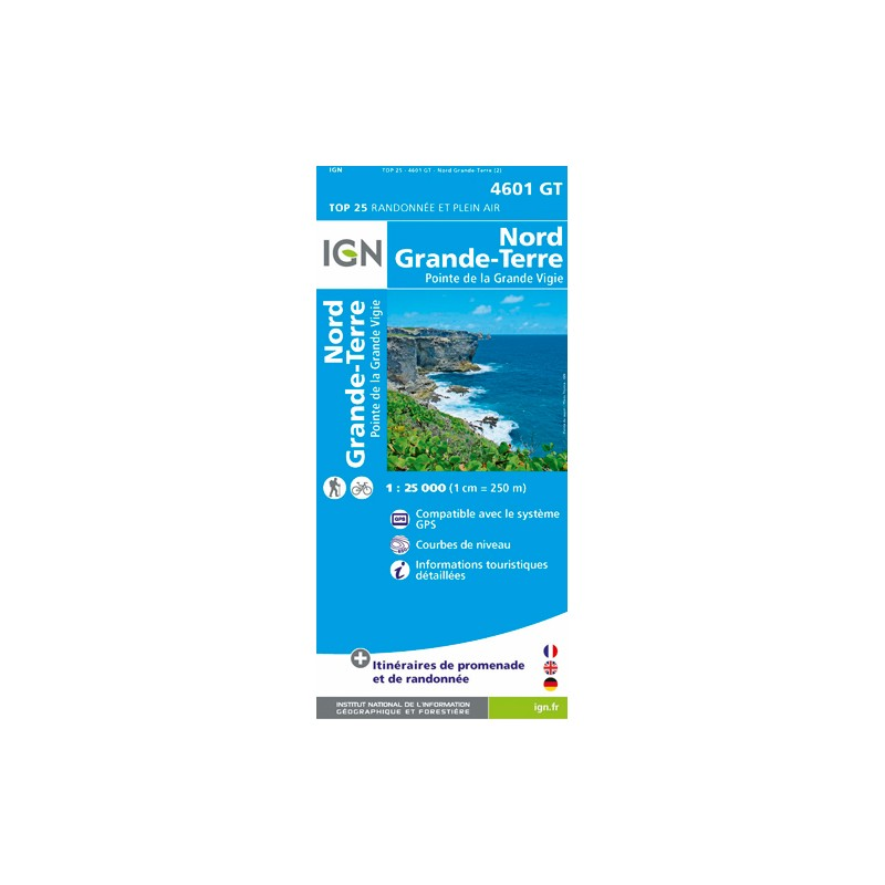 IGN Nord - Grande Terre - Carte topographique