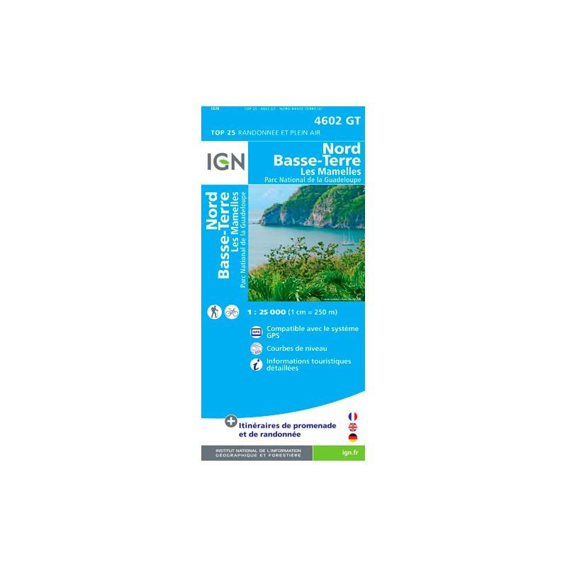 IGN Lamentin - Basse Terre - Carte topographique