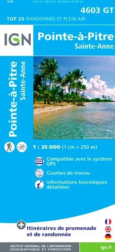 IGN Pointre-À-Pitre - Grande Terre - Carte topographique