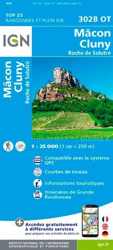 IGN Macon Cluny Roche De Solutré - Carte topographique
