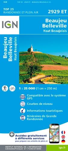 IGN Beaujeu / Belleville / Haut Beaujolais - Carte topographique