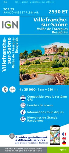 IGN Villefranche-Sur-Saone - Carte topographique