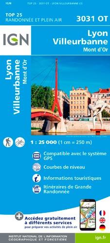 IGN Lyon / Villeubanne / Mont D'Or - Carte topographique