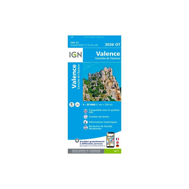 IGN Valence / Corniche De L'Eyrieux - Carte topographique