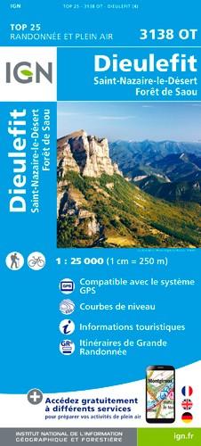IGN Dieulefit / St-Nazaire-Le-Désert / Forêt De Saou - Carte topographique
