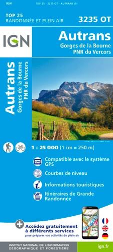 IGN Autrans - Gorges De La Bourne - Carte topographique