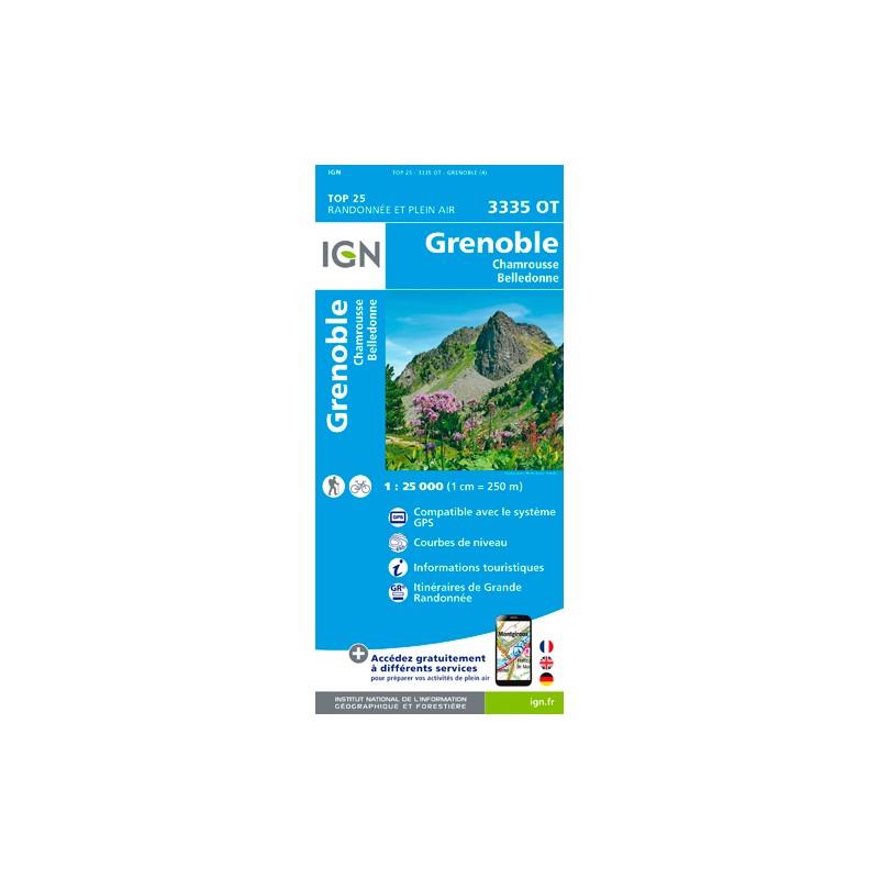 IGN Grenoble - Chamrousse - Carte topographique