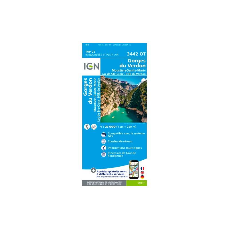 IGN Gorges Du Verdon / Moustiers - Carte topographique