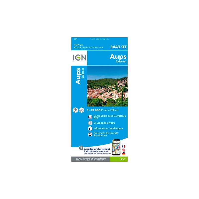 IGN Aups / Salernes - Carte topographique