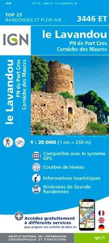 IGN Le Lavandou / Pn De Port Cros / Corniche Des Maures - Carte topographique