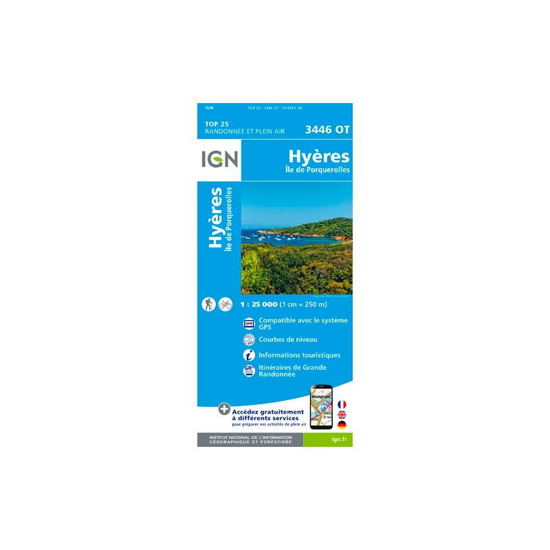IGN Hyères / Iles De Porquerolles - Carte topographique