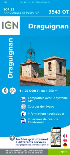 IGN Draguignan - Carte topographique