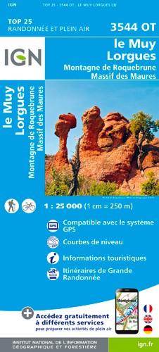 IGN Le Muy / Lorgues / Montagne De Roquebrune / Massif Des Maures - Carte topographique