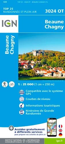 IGN Beaune Chagny - Carte topographique