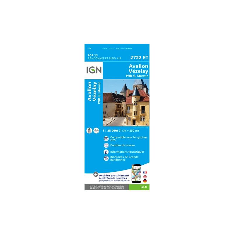 IGN Avallon / Vézelay - Carte topographique