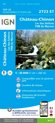 IGN Château-Chinon - Carte topographique