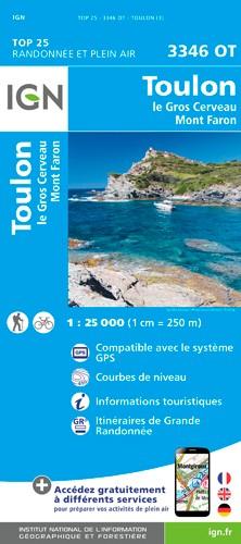 IGN Toulon / Le Gros Cerveau / Mont-Faron - Carte topographique