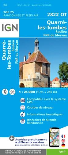 IGN Quarre Les Tombes - Carte topographique