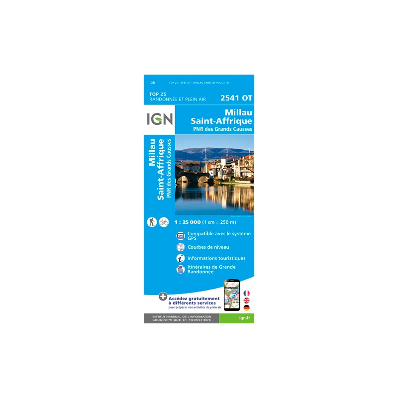 IGN Millau / Saint-Affrique - Carte topographique