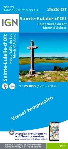 IGN Sainte-Eulalie-D'Olt / Haute Vallée Du Lot / Monts D'Aubrac - Carte topographique