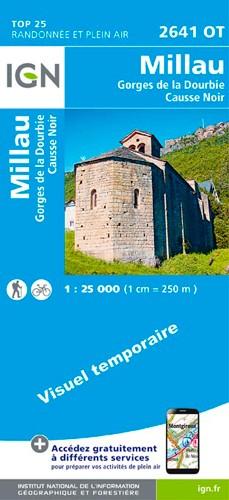 IGN Millau - Gorges De La Dourbie - Carte topographique