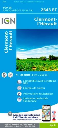 IGN Clermont L'Hérault - Carte topographique