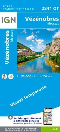 IGN Vézénobres / Moussac - Carte topographique