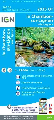IGN Le Chambon Sur Lignon / St Agreve - Carte topographique