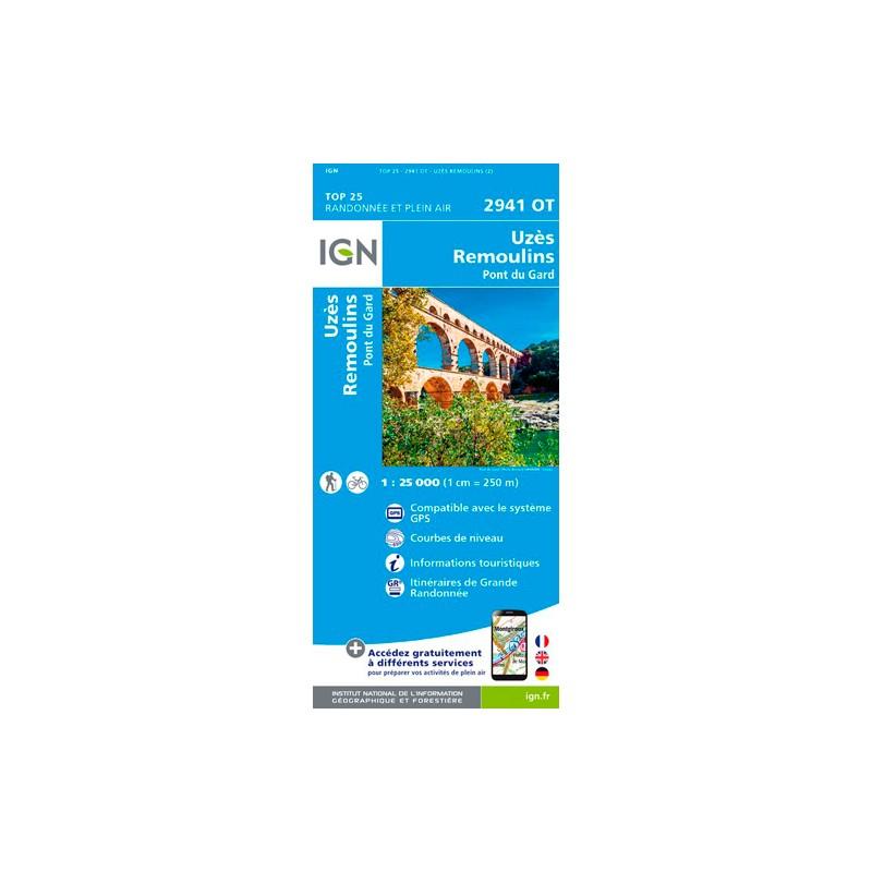 IGN Uzès / Remoulins / Pont Du Gard - Carte topographique